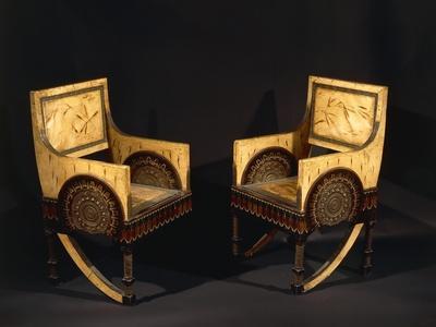 Art Nouveau Style Armchairs, Ca 1902
