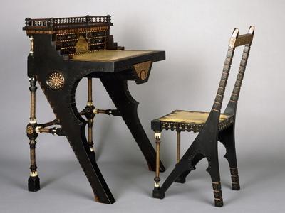 Art Nouveau Style Desk and Chair