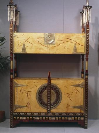 Art Nouveau Style Two Tier Piece of Furniture, 1902