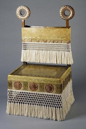 Entrance Chair with Dragonfly Decorative Motif on Backrest, 1902