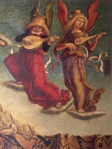 Angel Musicians, Detail from Coronation of Virgin by Carlo Crivelli