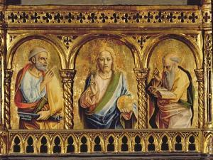 Christ with St. Peter and St. Paul, Detail from the Sant'Emidio Polyptych (Detail) by Carlo Crivelli