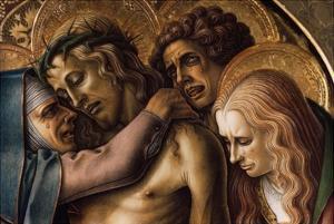 Detail of Pieta by Carlo Crivelli