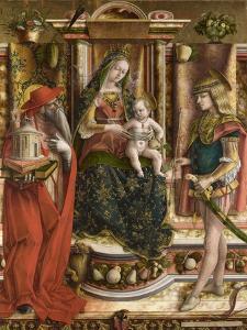 La Madonna Della Rondine (The Madonna of the Swallo), after 1490 by Carlo Crivelli