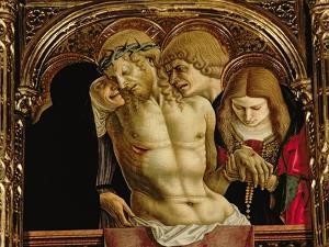 Lamentation of the Dead Christ, Detail from the Sant'Emidio Polyptych, 1473 by Carlo Crivelli