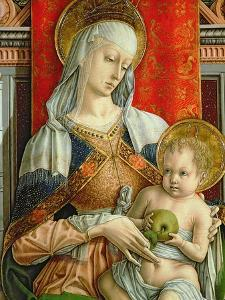 Madonna and Child, Detail from the Sant'Emidio Polyptych, 1473 by Carlo Crivelli