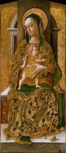 Madonna and Child Enthroned, 1472 by Carlo Crivelli