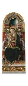 Madonna and Child Enthroned with Donor, 1470 by Carlo Crivelli