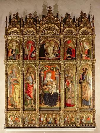 Madonna and Child with Saints, Polyptych, 1473