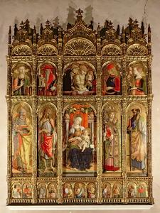 Madonna and Child with Saints, Polyptych, 1473 by Carlo Crivelli