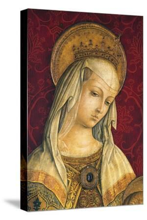 Madonna's Face, Detail from Central Panel of Triptych of Camerino