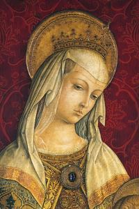 Madonna's Face, Detail from Central Panel of Triptych of Camerino by Carlo Crivelli