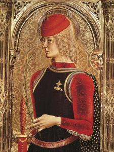 Representation of St George, Detail of the Altarpiece by Carlo Crivelli