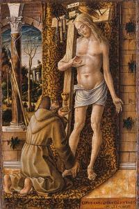 Saint Francis Catches the Blood of Christ from the Wounds, 1480-1490 by Carlo Crivelli