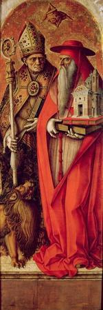 SS. Jerome and Augustine, Side Panel from the Madonna Della Candeletta Triptych