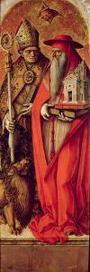 SS. Jerome and Augustine, Side Panel from the Madonna Della Candeletta Triptych by Carlo Crivelli