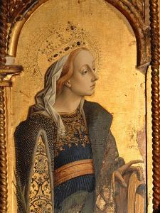 St. Catherine, Detail from the Santa Lucia Triptych by Carlo Crivelli