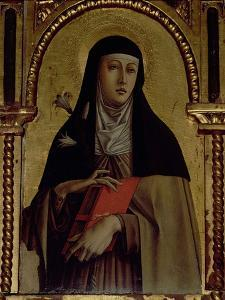 St. Clare, Detail from the Santa Lucia Triptych by Carlo Crivelli