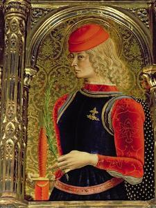 St. George, Detail from the Sant'Emidio Polyptych, 1473 by Carlo Crivelli