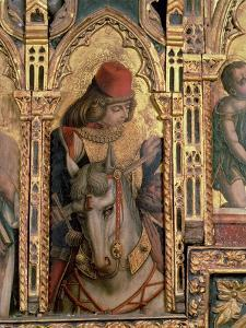 St. Martin, Detail from the San Martino Polyptych by Carlo Crivelli