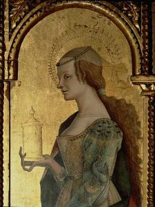 St. Mary Magdalene, Detail from the Santa Lucia Triptych by Carlo Crivelli