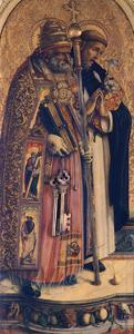 St Peter and St Dominic, Detail from Camerino Polyptych by Carlo Crivelli