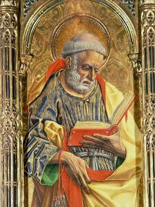 St. Peter, Detail from the Sant'Emidio Polyptych, 1473 by Carlo Crivelli