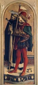 St Peter Martyr and St Venancio, Detail from Camerino Polyptych by Carlo Crivelli