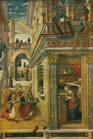 The Annunciation, with Saint Emidius, 1486, (1911)