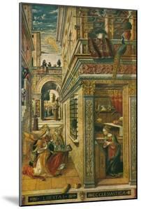 The Annunciation, with Saint Emidius, 1486, (1911) by Carlo Crivelli