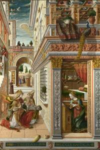 The Annunciation, with Saint Emidius, 1486 by Carlo Crivelli