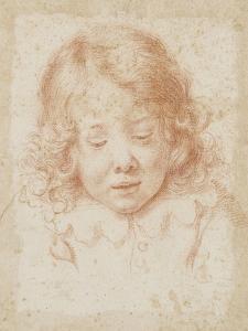 Buste d'enfant vu de face regardant en bas by Carlo Dolci