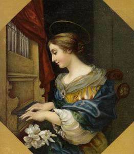 Saint Cecilia Playing the Organ by Carlo Dolci