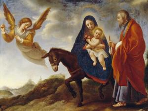 The Flight into Egypt, c.1648/50 by Carlo Dolci