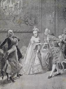 Scene from Comedy Cunning Widow by Carlo Goldoni