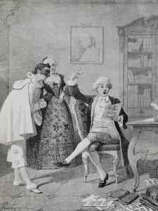 Scene from Comedy Fanatical Poet by Carlo Goldoni