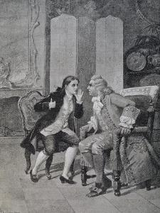 Scene from Comedy Loving Servant by Carlo Goldoni