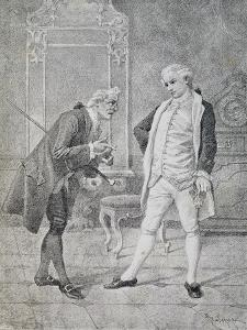 Scene from Comedy Miser by Carlo Goldoni