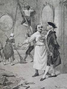 Scene from Comedy New House by Carlo Goldoni