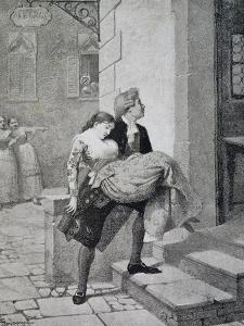 Scene from Comedy Women's Gossip by Carlo Goldoni