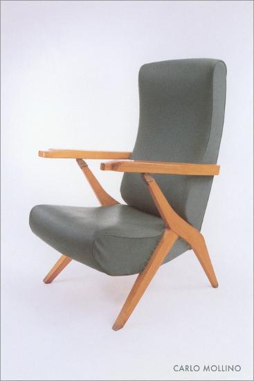 Carlo Mollino Chair--Art Print