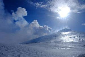 Active summit craters, Mount Etna, UNESCO World Heritage Site, Catania, Sicily, Italy, Europe by Carlo Morucchio