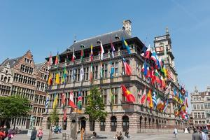 Antwerp City Hall, Antwerp, Belgium, Europe by Carlo Morucchio