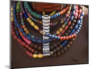 Close-Up of Bead Necklaces of a Hamer Woman, Turmi, Omo Region, Ethiopia, Africa by Carlo Morucchio