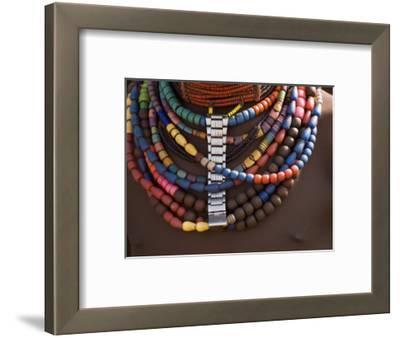 Close-Up of Bead Necklaces of a Hamer Woman, Turmi, Omo Region, Ethiopia, Africa