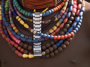 Close-Up of Bead Necklaces of a Hamer Woman, Turmi, Omo Region, Ethiopia, Africa by Carlo Morucchio