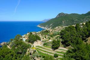 Coastline near Banyalbufar, Serra de Tramuntana, Majorca, Balearic Islands, Spain, Mediterranean, E by Carlo Morucchio