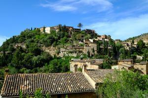 Deia village, Tramuntana Mountain Range, Majorca, Balearic Islands, Spain, Europe by Carlo Morucchio