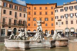 Fountain of Neptune, Piazza Navona, Rome, Lazio, Italy, Europe by Carlo Morucchio