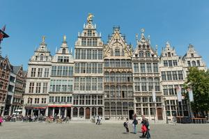 Grote Markt Guildhalls, Antwerp, Belgium, Europe by Carlo Morucchio